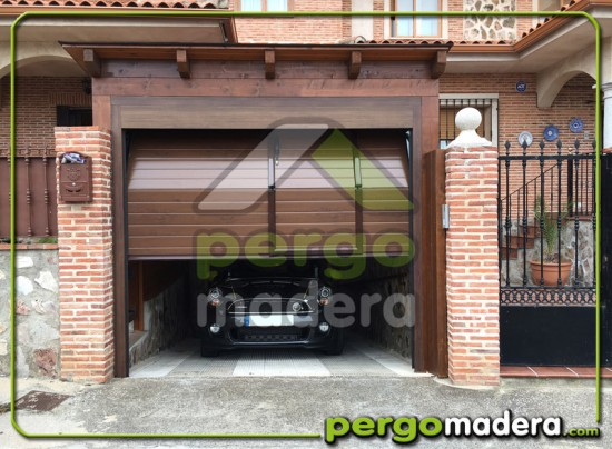 Garaje de madera en arg s toledo blog pergomadera - Rampas de garaje ...